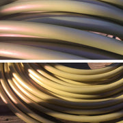 Bare HDPE Hoops - Soft Gold