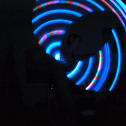 Spaced Ship Budget LED Hoop