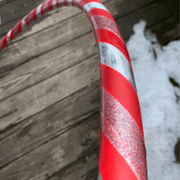 "<img src=""Holly-Berry-Beginner-Hula-Hoop.jpg""alt=""Red, Silver, and Sparkly tape in a candy cane style on a beginner hula hoop on a wood deck in the snow"">"