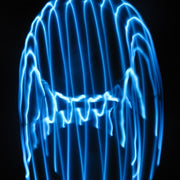 LED Hoops - Cyan Monochromatic