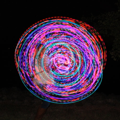 Sun & Moon Mini LED Hoops