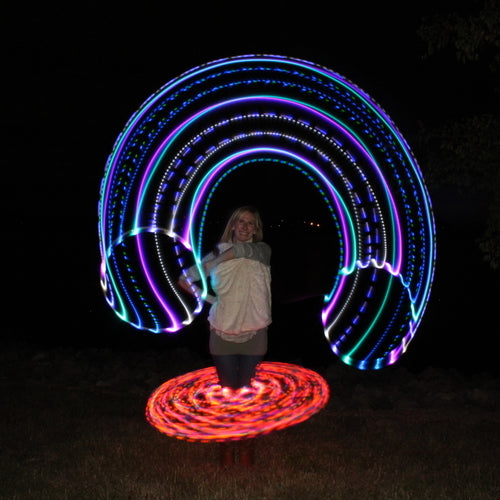 Mini LED Hoops - Sun and Moon