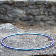 Reflective Hoops - Blue Opal Reflective Color Morph Hoop