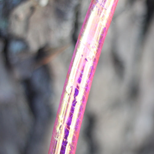 UV Pink Firefly Reflective Color Morph Hoop