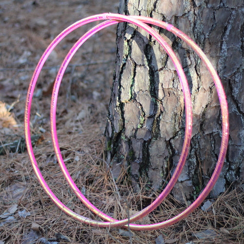 Reflective Hoops - UV Pink Firefly Reflective Color Morph Hoop