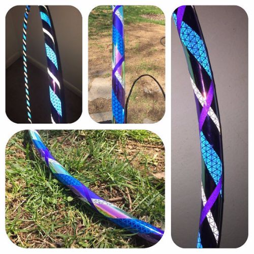Reflective Hoops - Blueberry Pie Reflective Color Morph Mirror Hoop