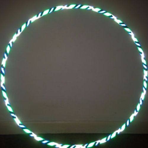 Reflective Hoops - Shimmering Peacock Reflective Color Morph Mirror Hoop