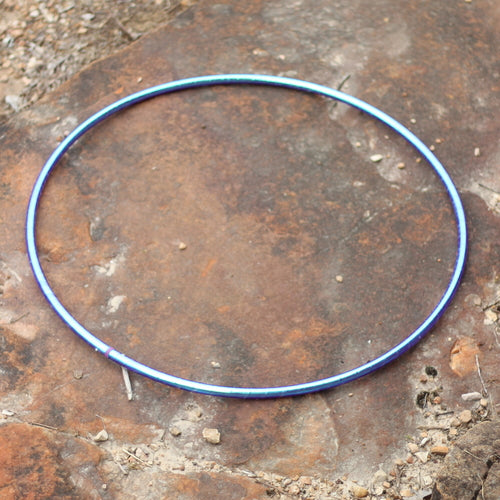 Taped Hoops - Blue Opal Color Morph Taped Hoop