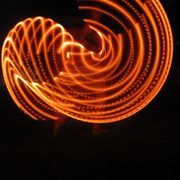 UV Red Orange Polypro LED Hoop
