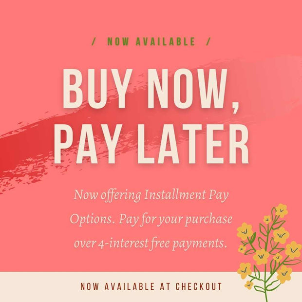 interest free payments available at checkout at autumnflow.com