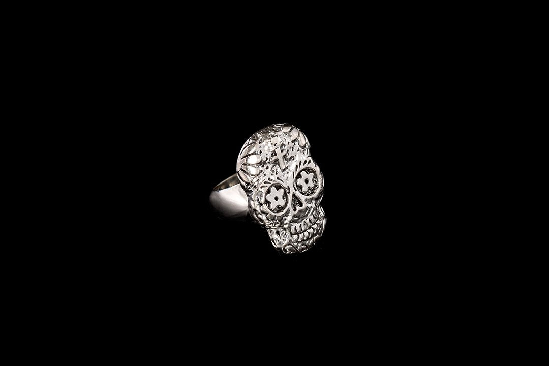 Skull Ring - day of the dead