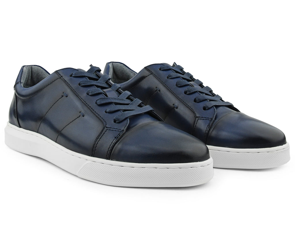 Anchor Blue Leather Sneaker