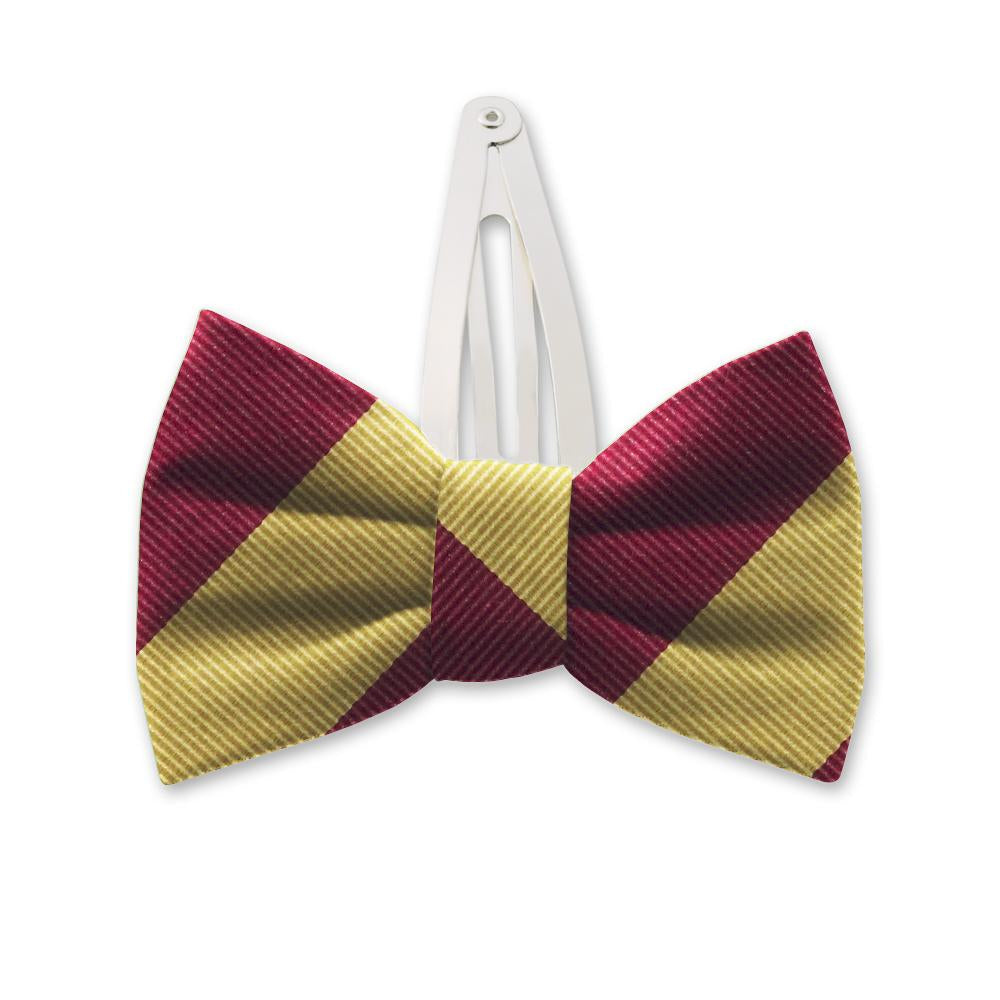 Academy Gold/Maroon Kids Hair Clips