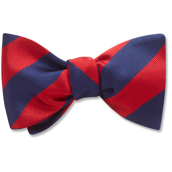 Academy Navy/Red bow ties