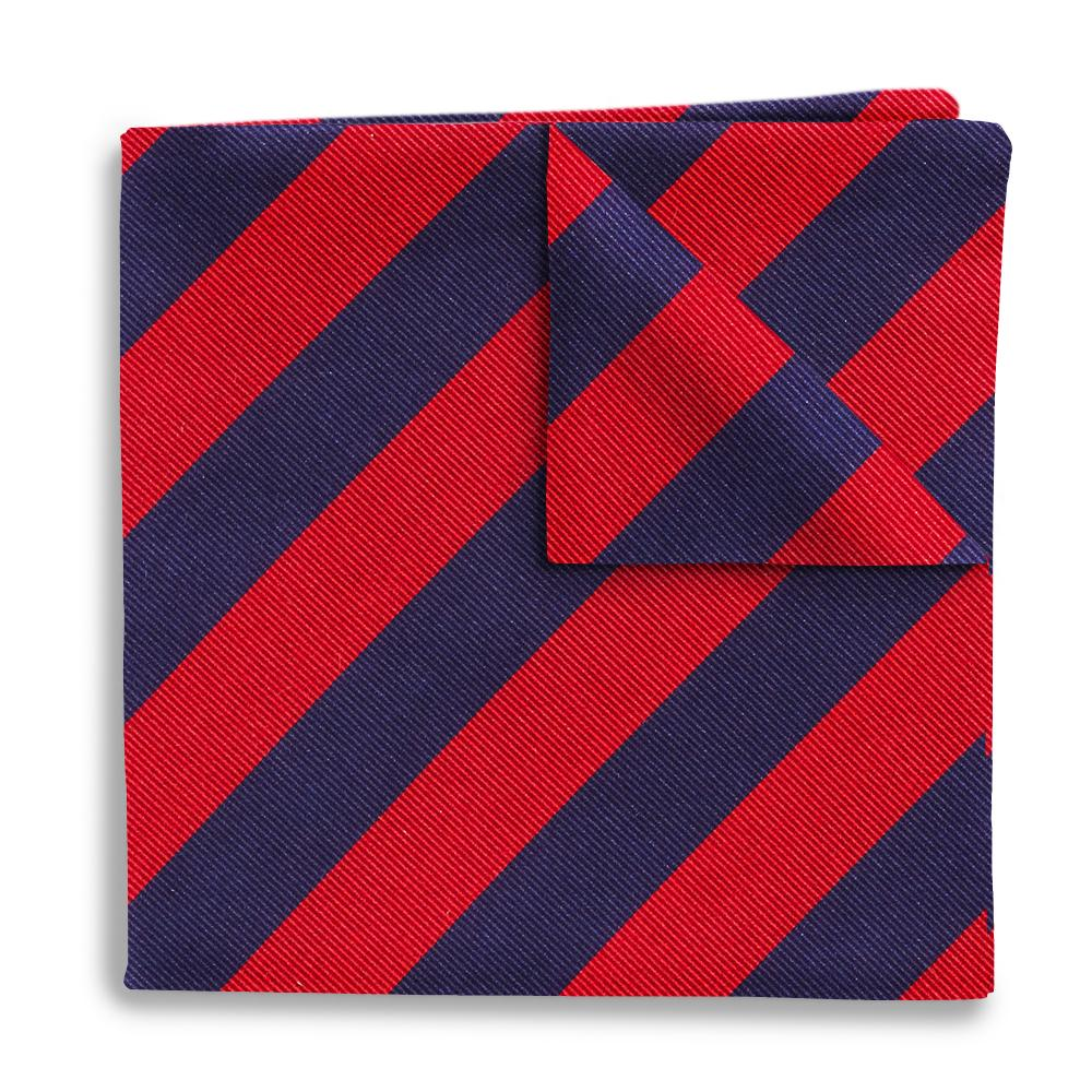 Academy Navy/Red Pocket Squares
