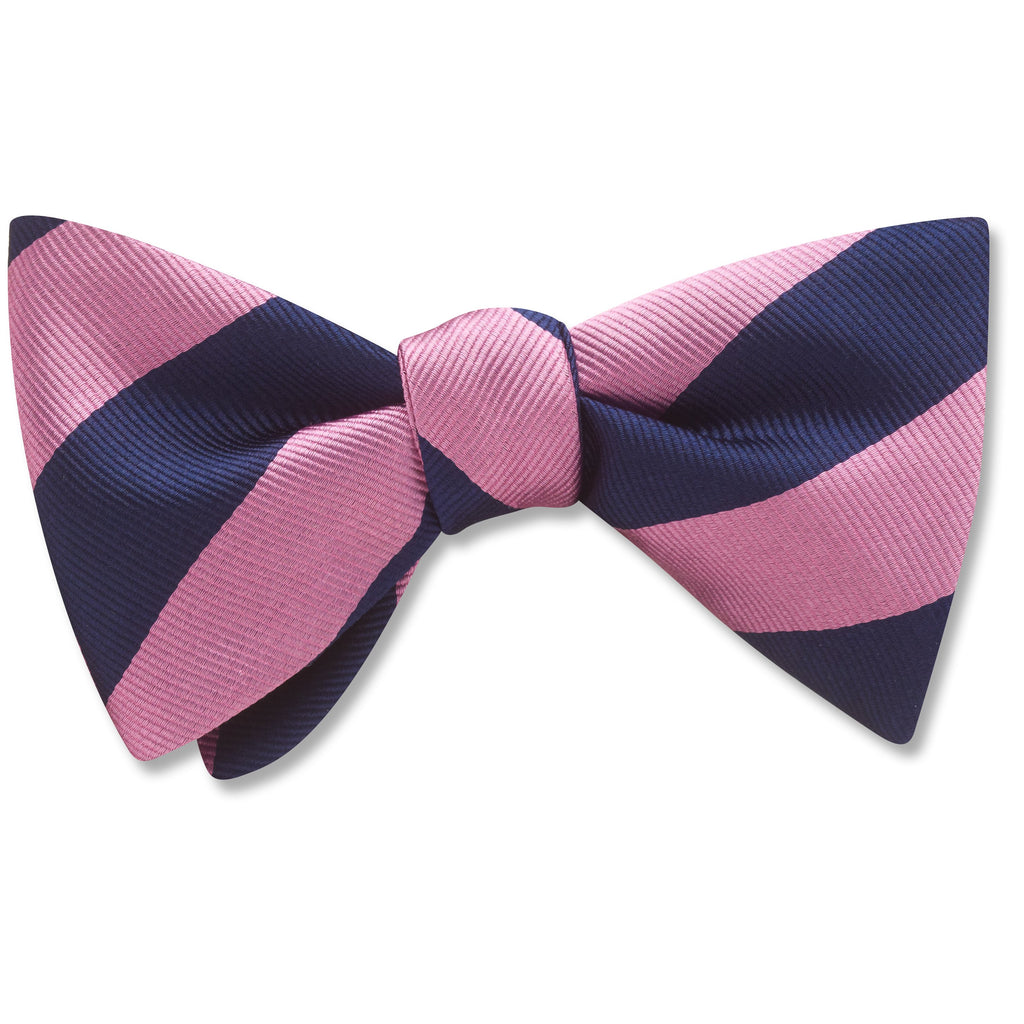 Academy Pink/Navy bow ties
