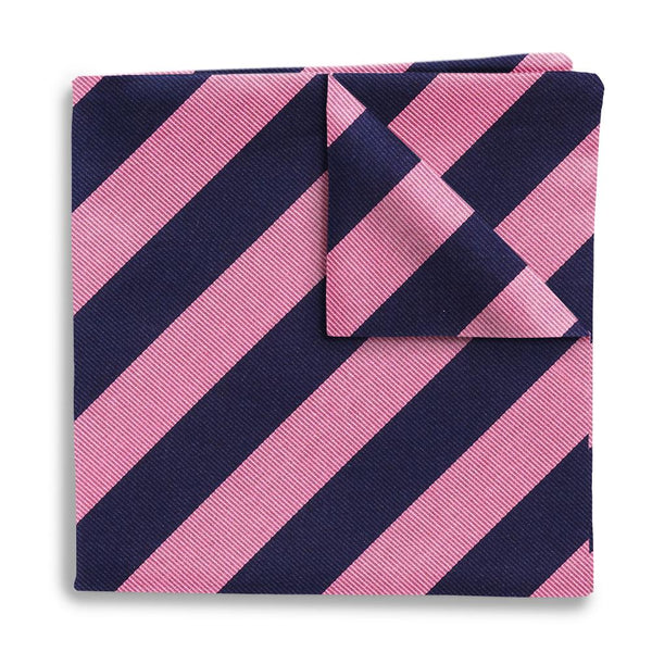 Academy Pink/Navy Pocket Squares