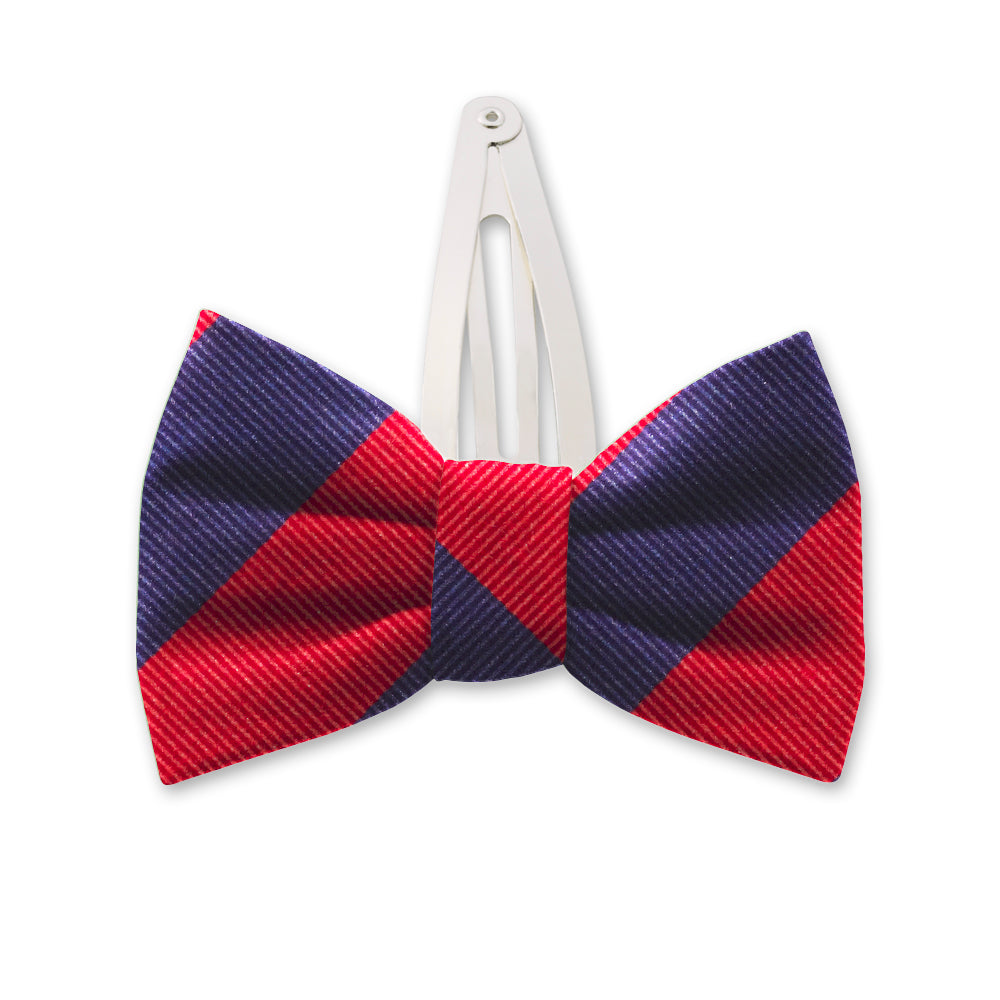 Academy Navy/Red Kids Hair Clips