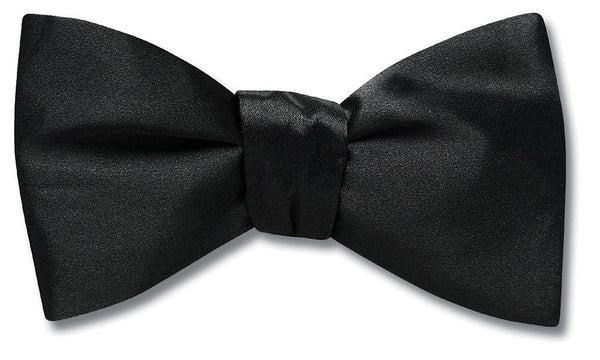 Black Charmeuse - bow ties
