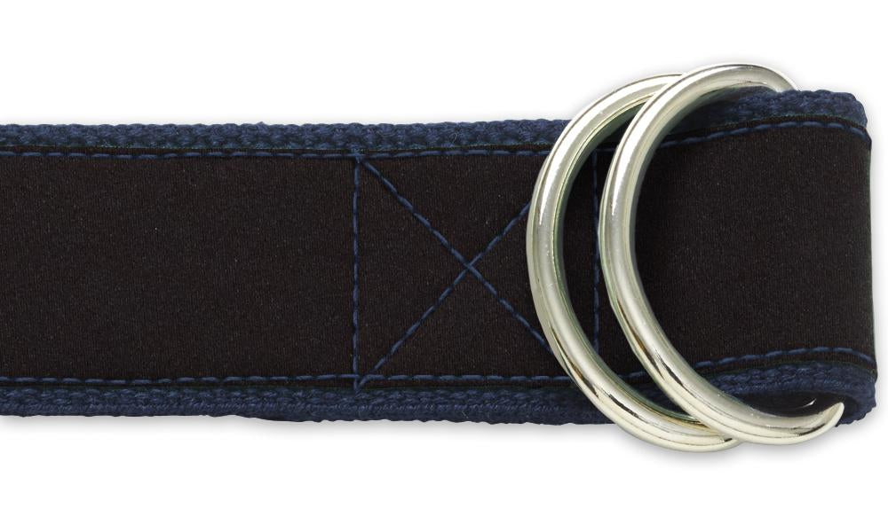 Black Charmeuse - D-Ring Belts