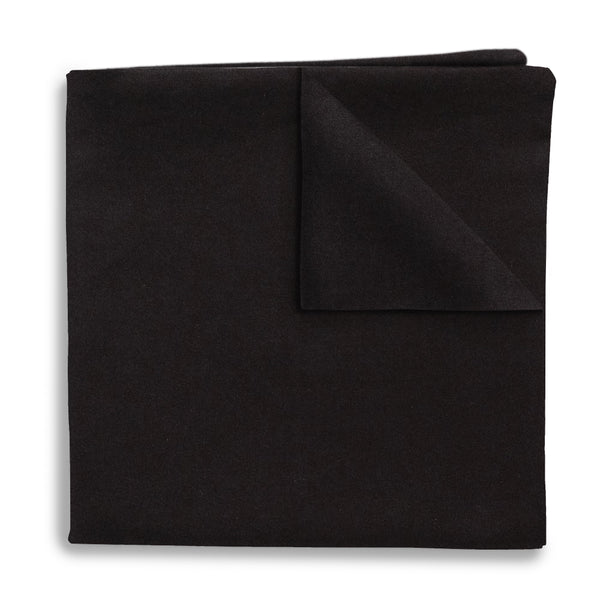Black Charmeuse - Pocket Squares