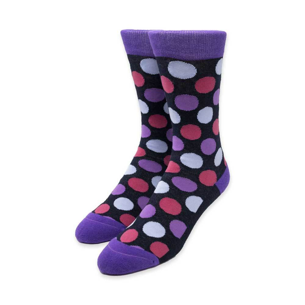 Big Dots Black Socks