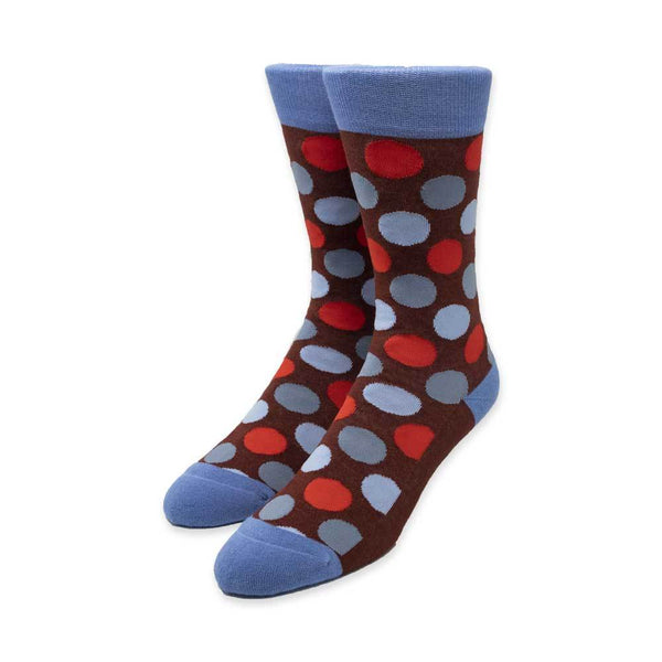 Big Dots Burgundy Socks