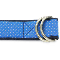 Blue Sky Polka - D-Ring Belts