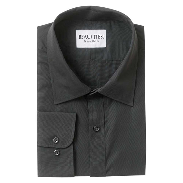 Solid Black Dress Shirt