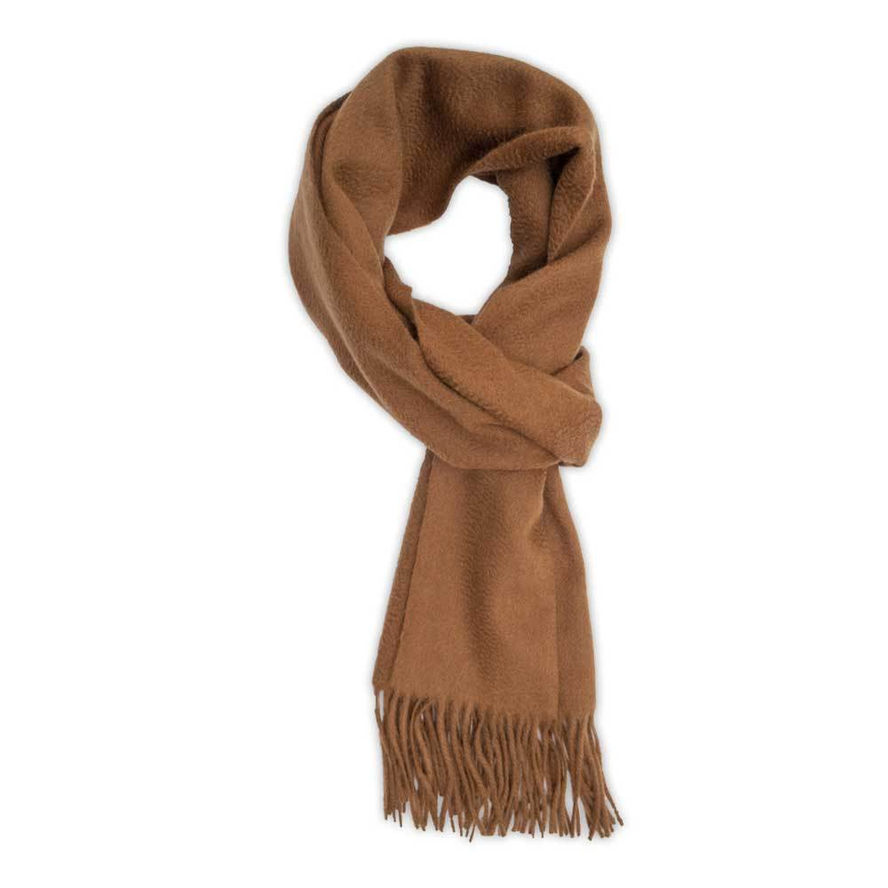 Cinammon Brown Cashmere Scarf