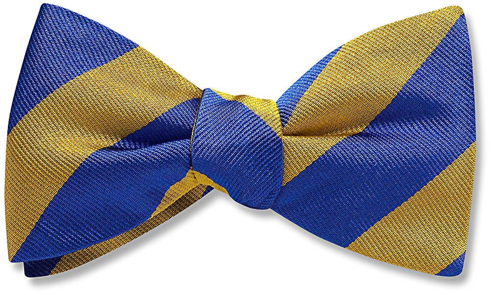 Collegiate Blue And Gold - bow ties