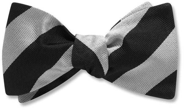 Collegiate Black And Silver - bow ties
