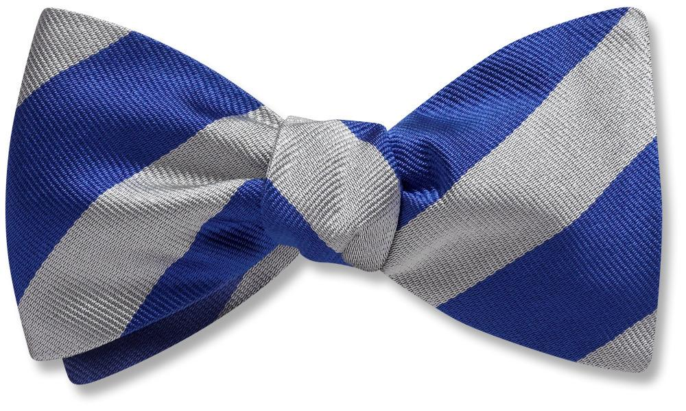 Collegiate Blue And Silver - bow ties