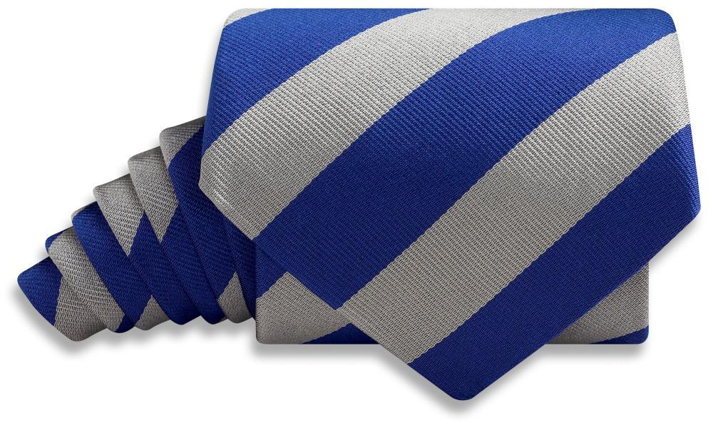 Collegiate Blue And Silver - Neckties