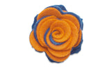 Collegiate Blue/Orange Twist - Beau Fleur Boutonniere