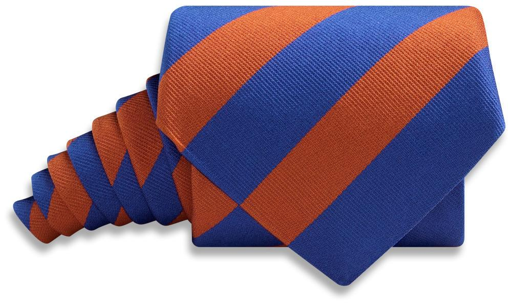 Collegiate Blue And Orange - Neckties