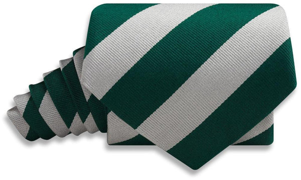 Collegiate Green And Silver - Neckties