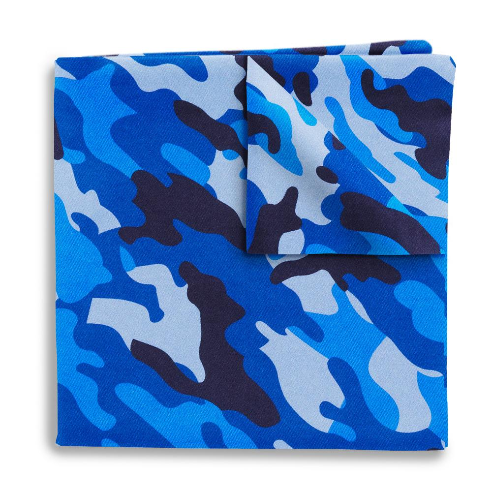 Camo Blue Pocket Squares