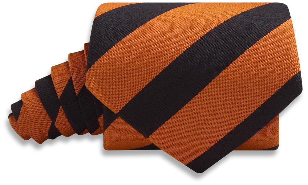 Collegiate Orange And Black - Neckties