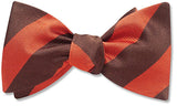 Collegiate Orange And Brown - bow ties
