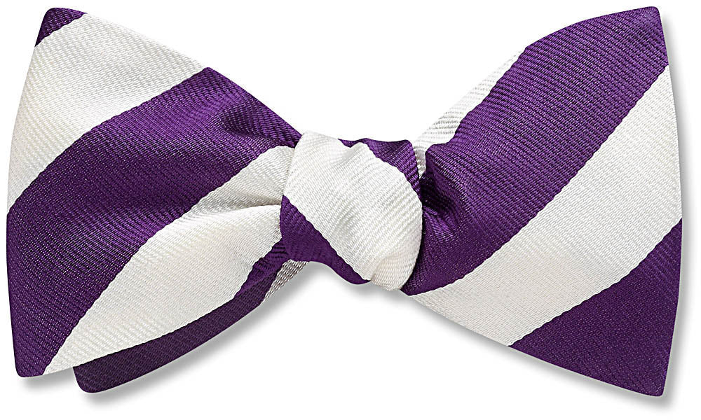 Collegiate Purple And White - bow ties