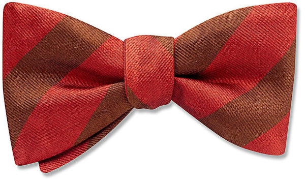 Collegiate Crimson And Brown - bow ties