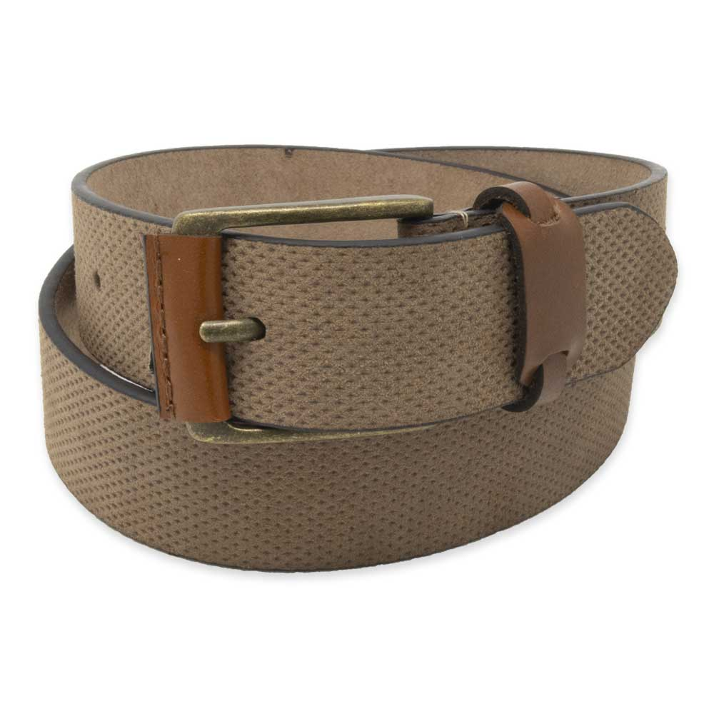 Dusty Brown Dimpled Leather Belt