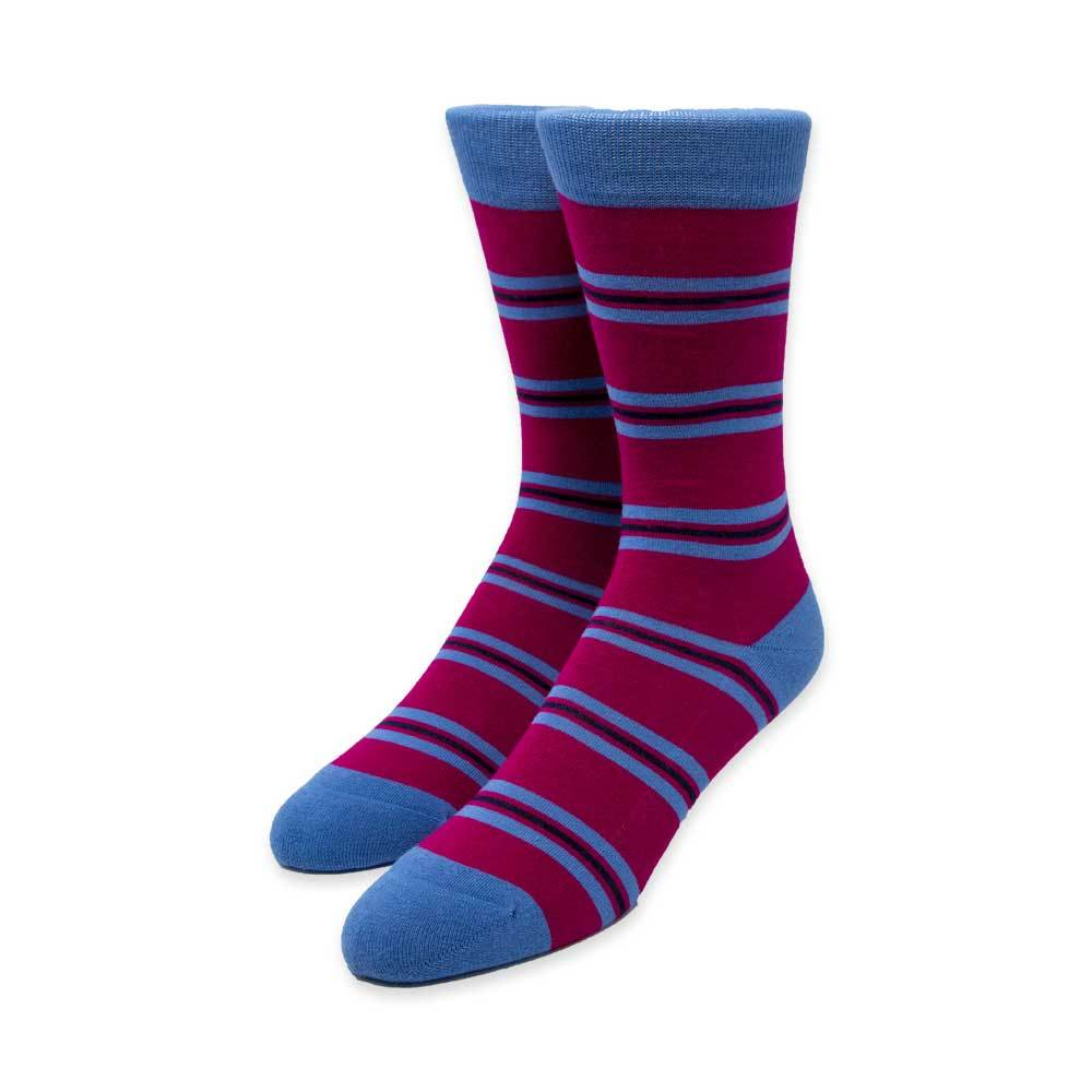 Dark Pink Stripe Socks