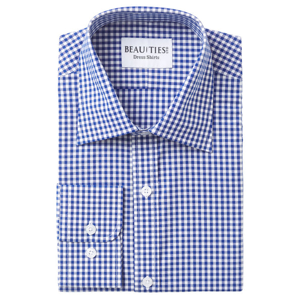 Royal Blue Gingham Dress Shirt