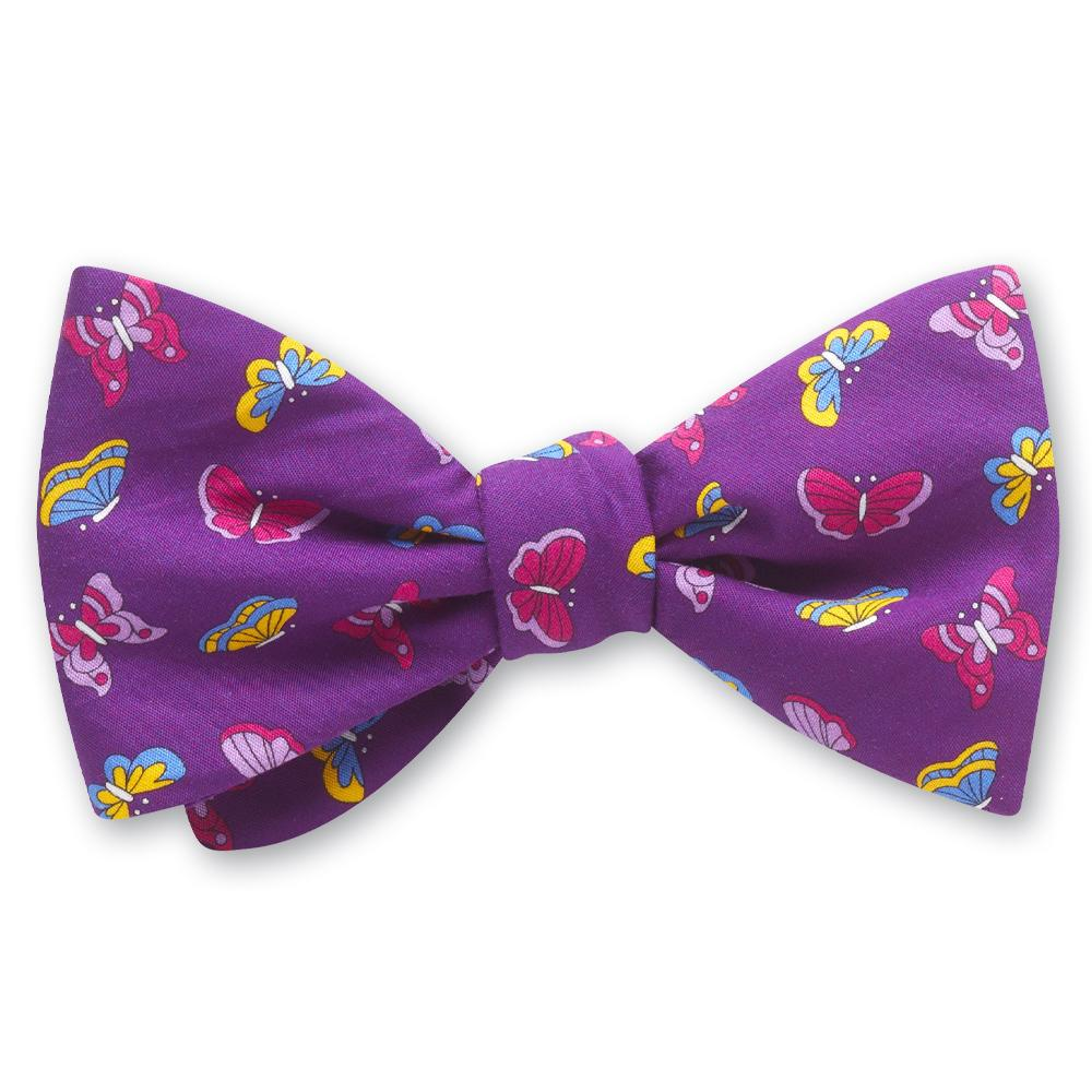 Flutter Purple bow ties