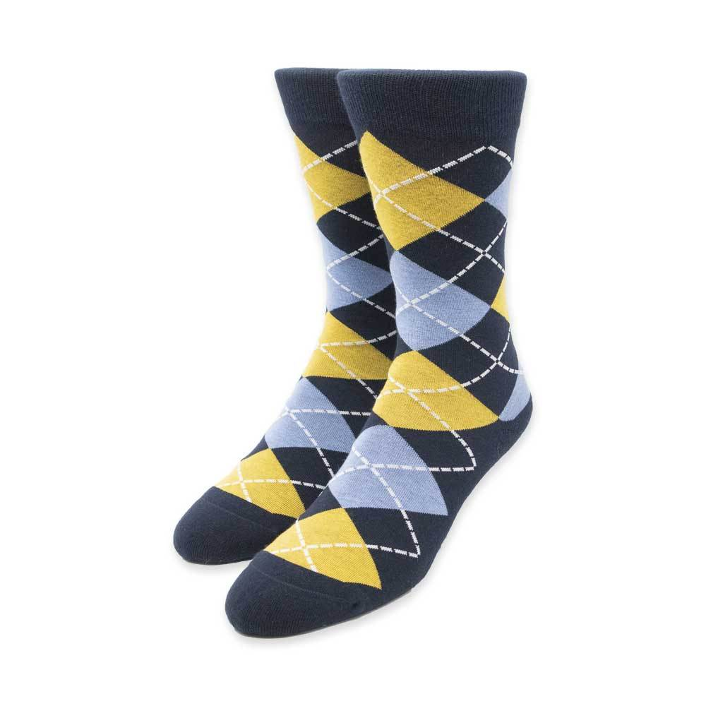 Gold Argyle Socks