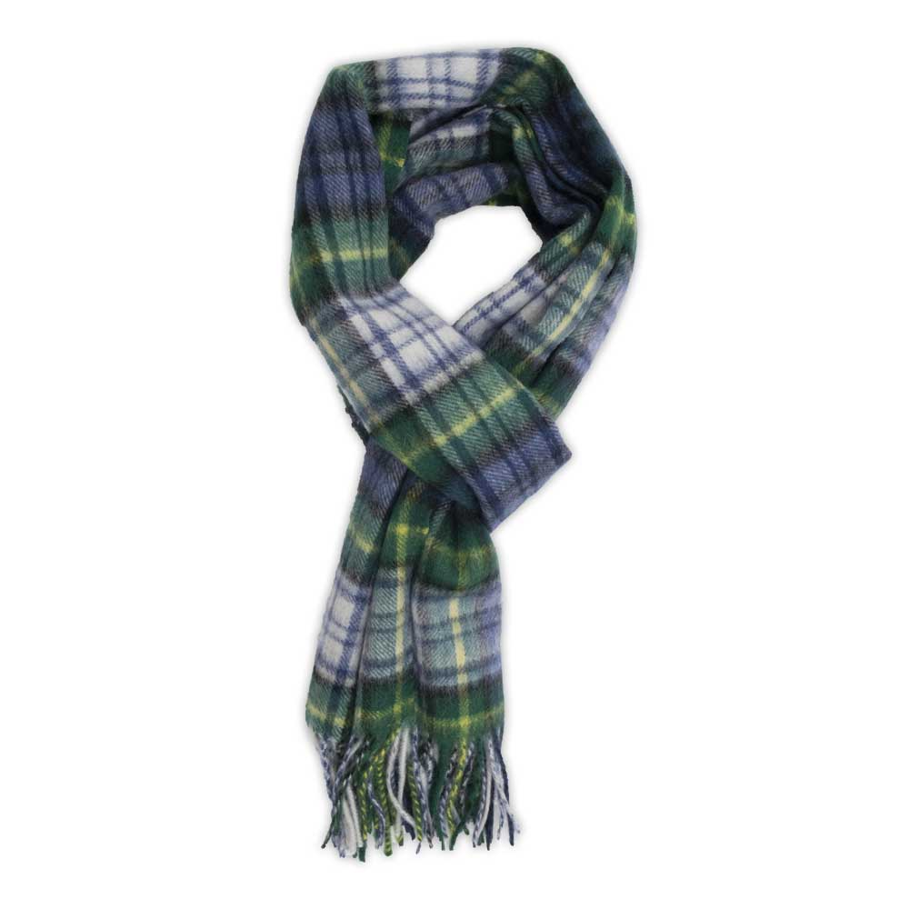 Green Plaid Wool Scarf