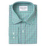 Green & Blue Gingham Dress Shirt
