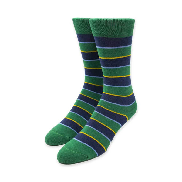 Green and Blue Stripe Socks
